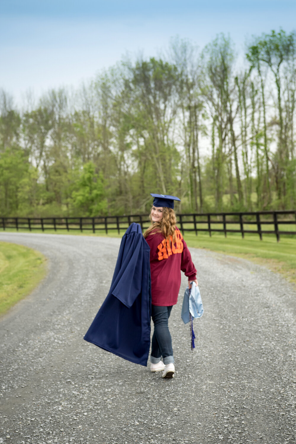 Cap and gown hokie virginia tech graduation photos