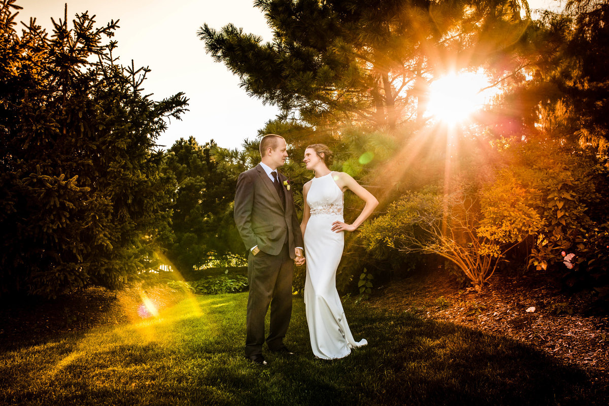 Quad Cities Botanical Garden wedding