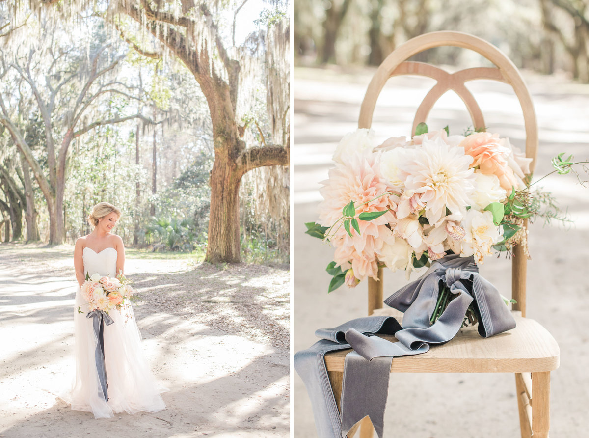 Wormsloe Historic Site wedding photo by Michelle Kujawski Photography