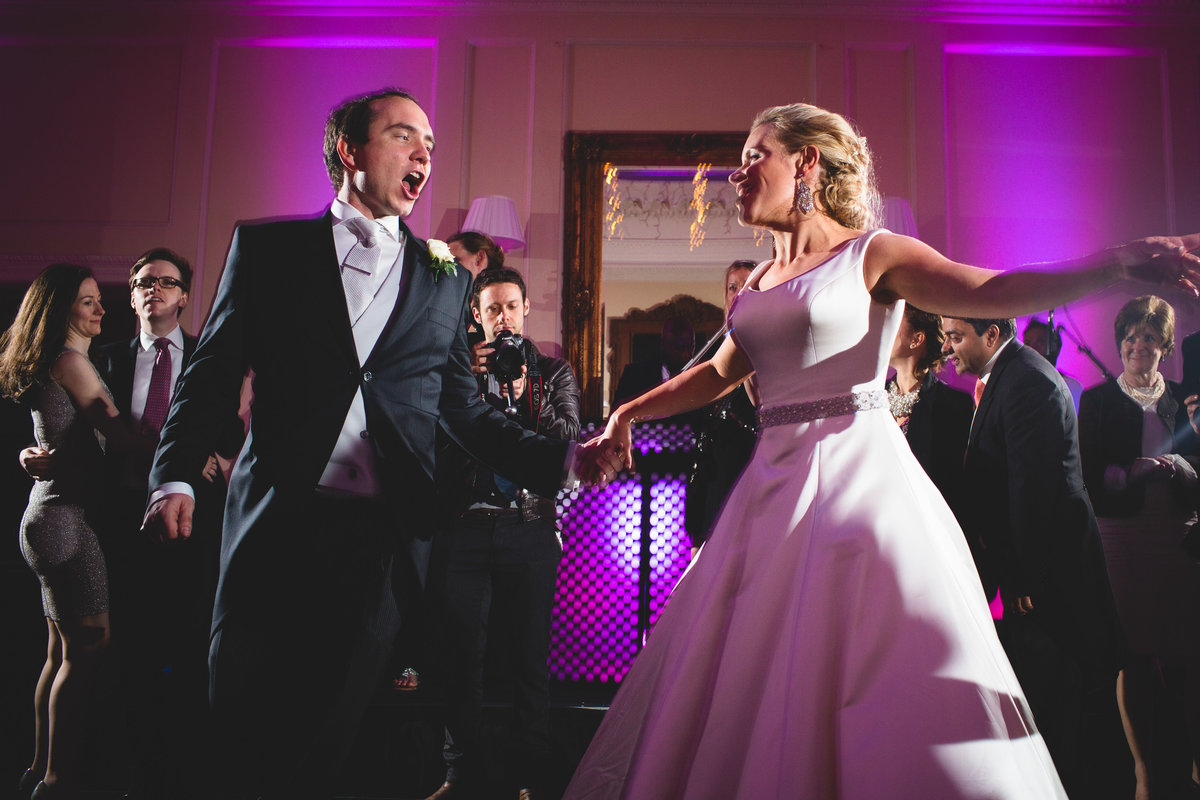 bride and grooms first dance at hedsor house