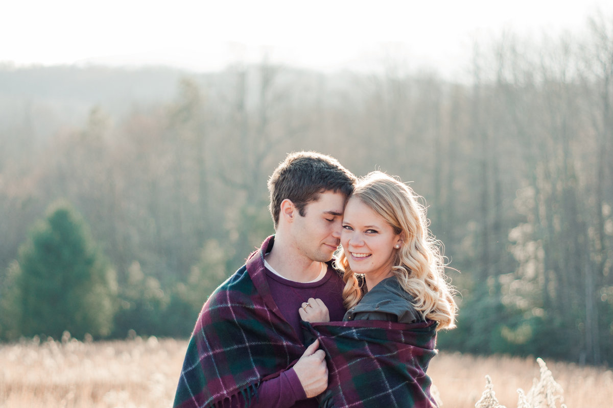Blue Ridge Parkway Engagement Adventure photographed by Boone Photographer Wayfaring Wanderer.