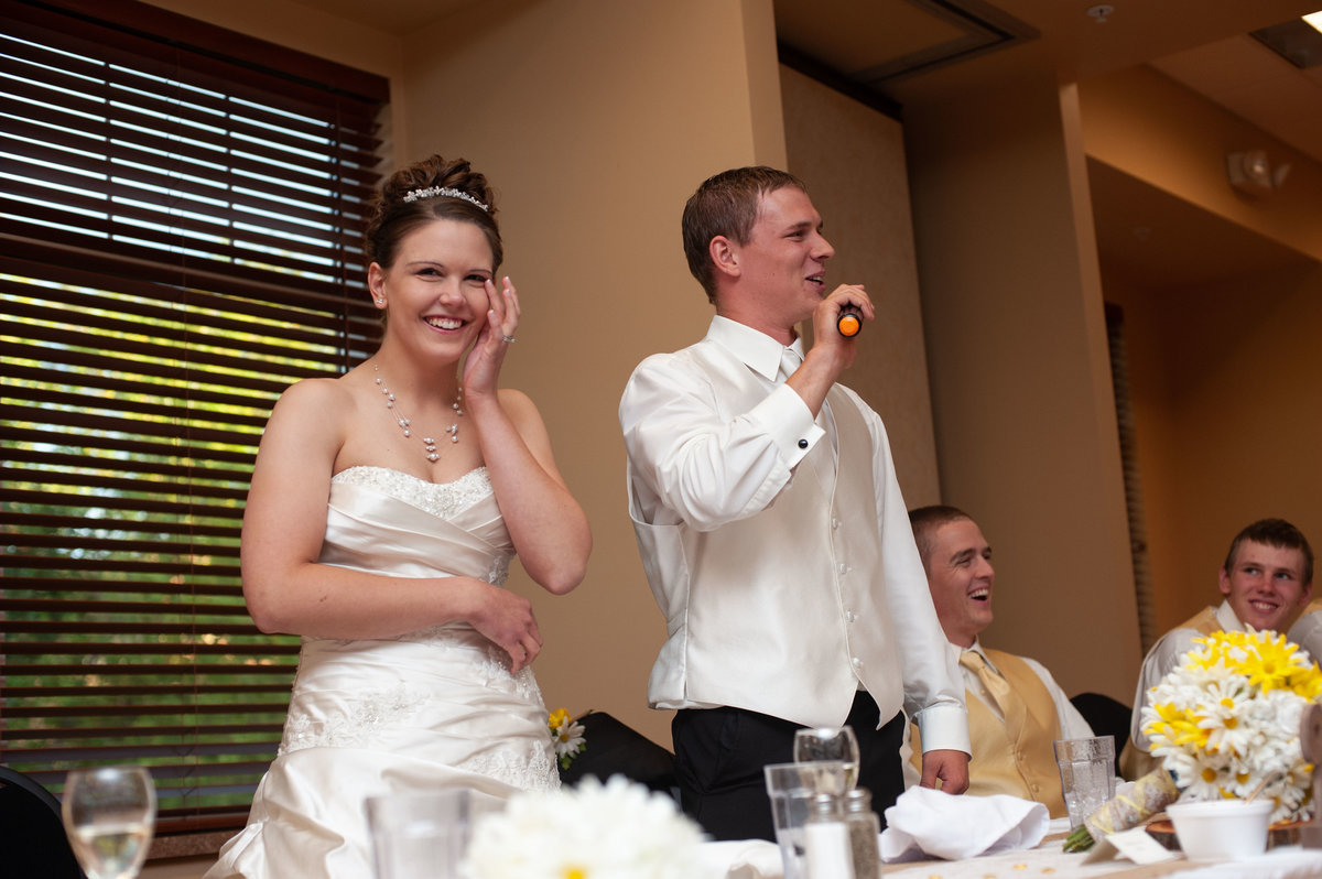 groom gives lengthy toast