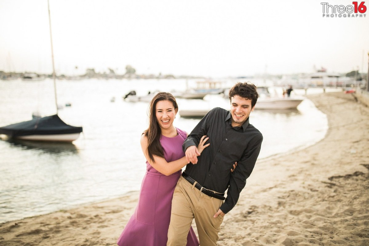 Balboa Island Engagement  Newport Beach Orange County  Photographer