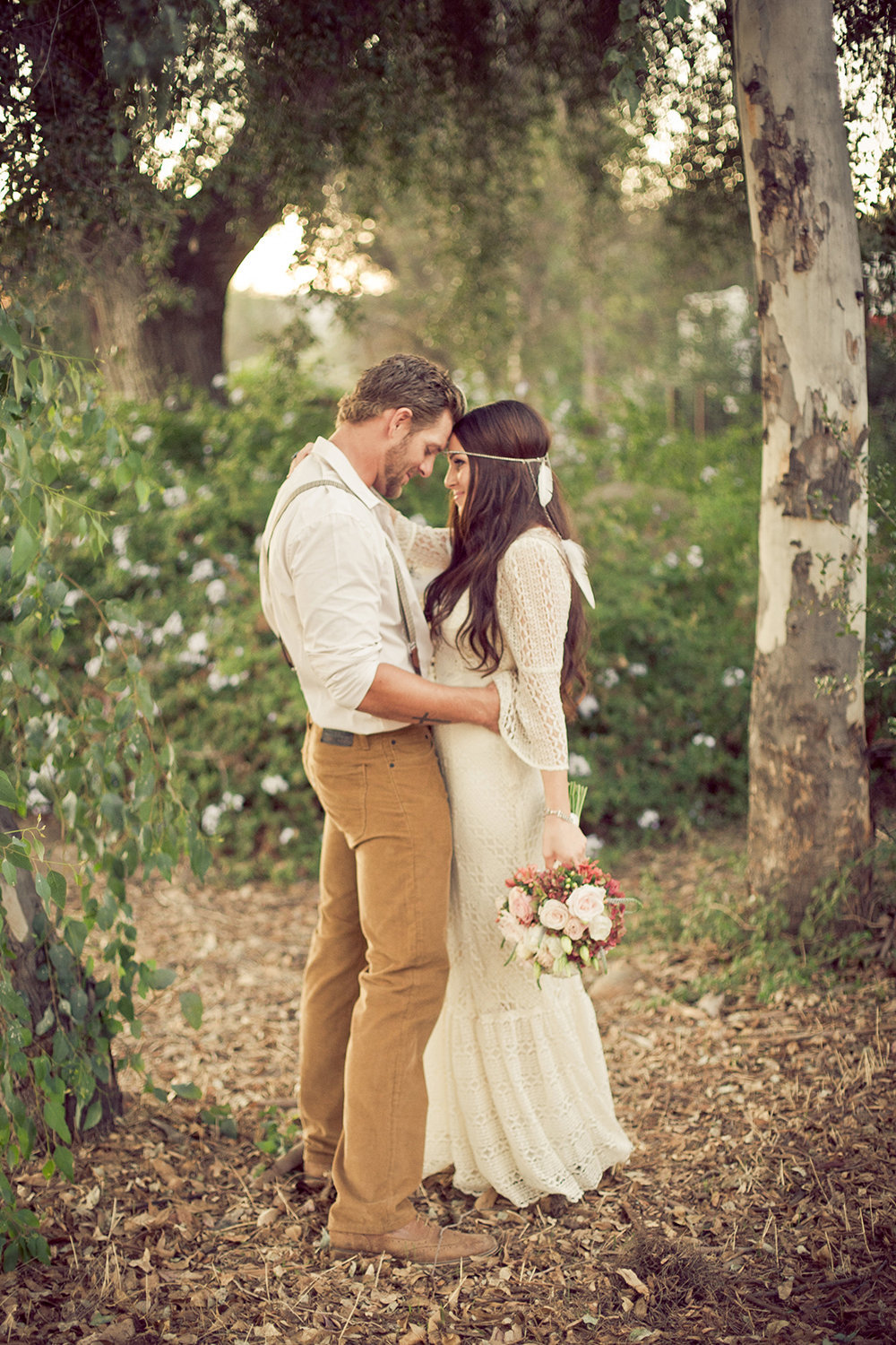 Mission Trails wedding photos rustic outdoor hobo