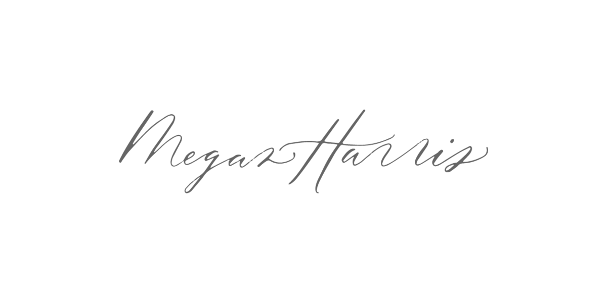 Megan Harris  Custom  Calligraphy Logo