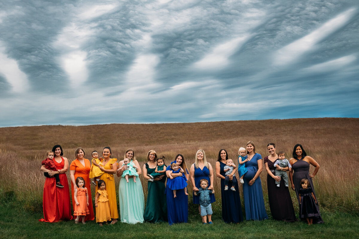 Rainbow Moms and babies infant loss McKenna Patterson Photography