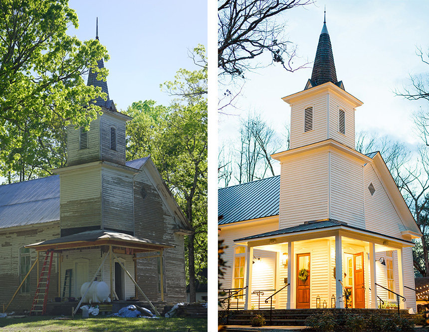 Parlourchapel Before and after
