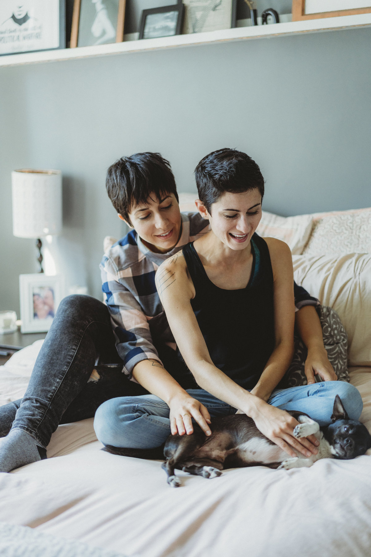 LESBIAN IN HOME COUPLES PHOTOGRAPHY SESSION