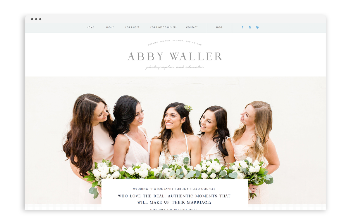 With Grace and Gold - Abby Waller Photography - Logo Design, Stationery Design, and Web Design for Photographers, Creative Women in Business - Photo - 12