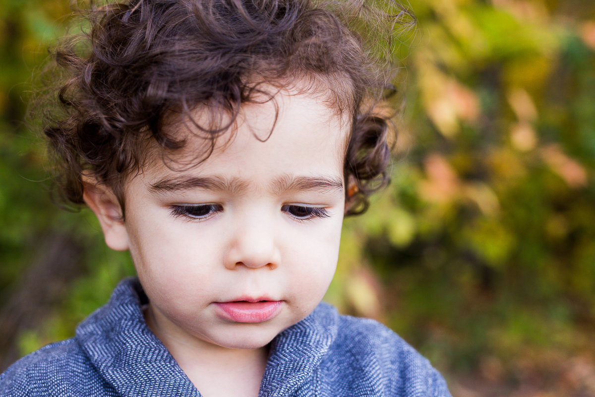 Close up of toddler boy's face {Oakville Child Photographer}