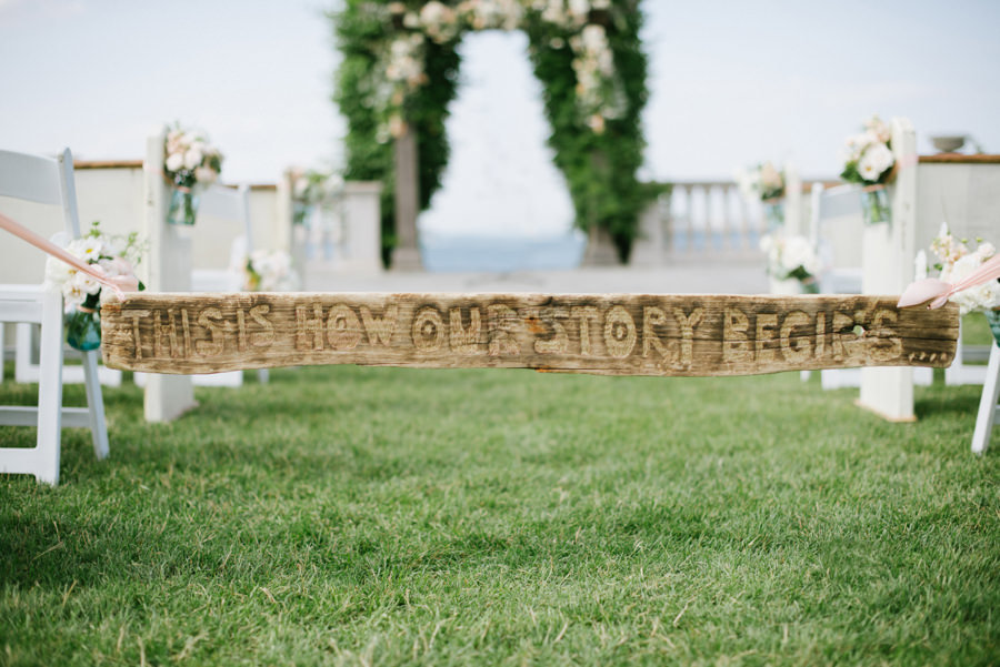 This is how our story beging wedding sign
