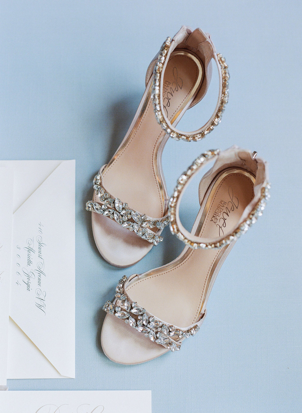 Elegant High Heels Geogian Hall Wedding