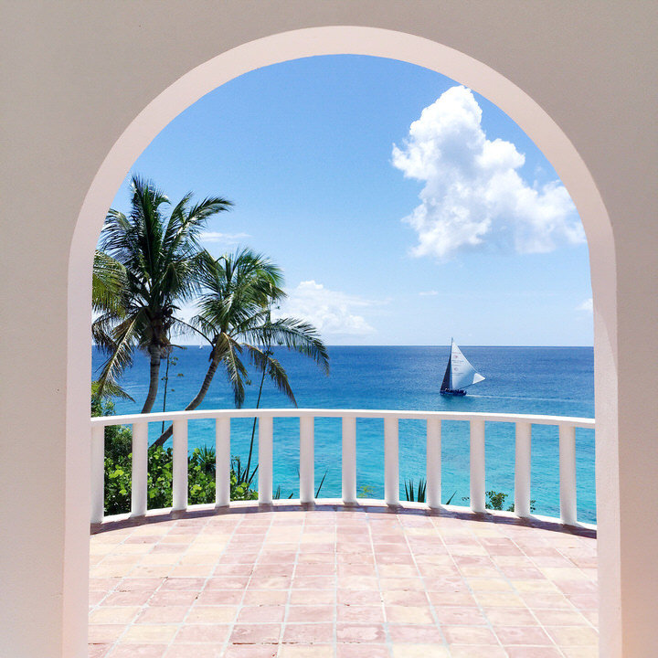 balcony view of sailboat in anguilla