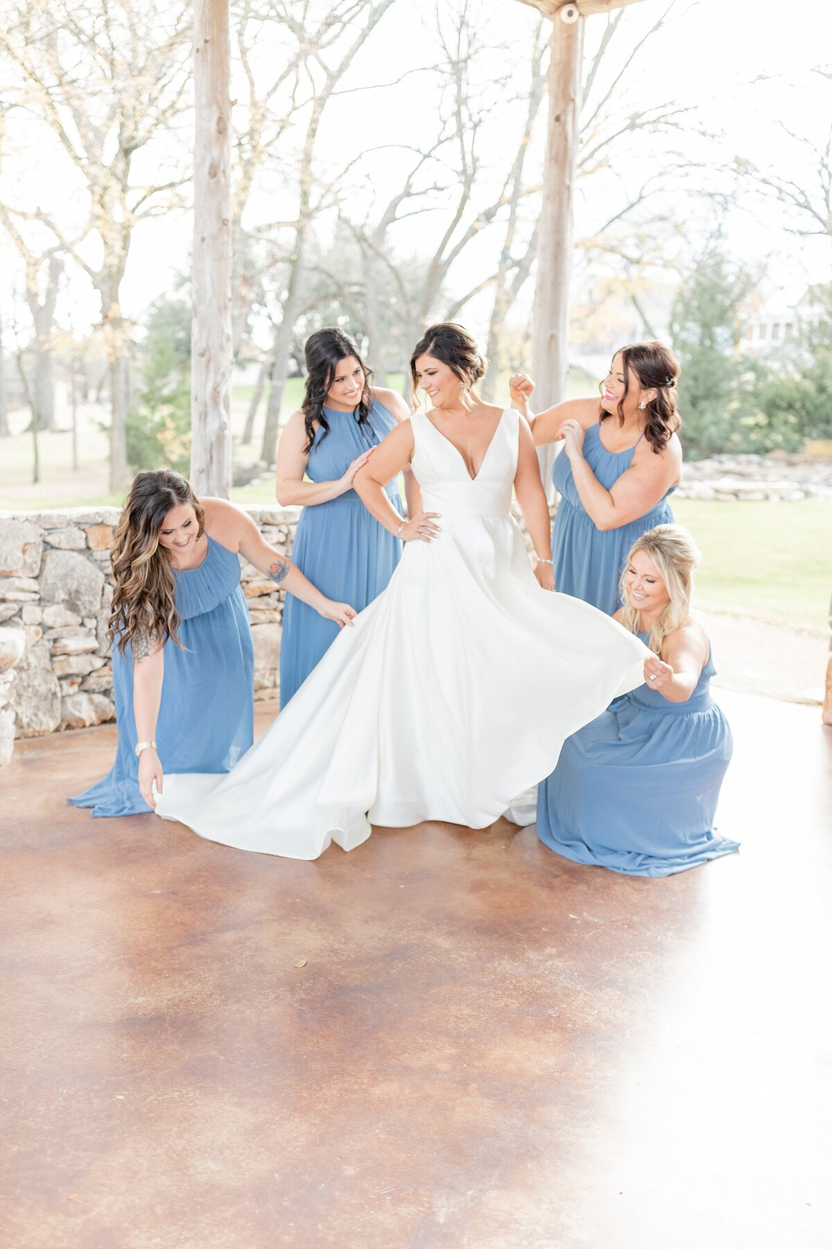 the brooks at weatherford wedding bridesmaids