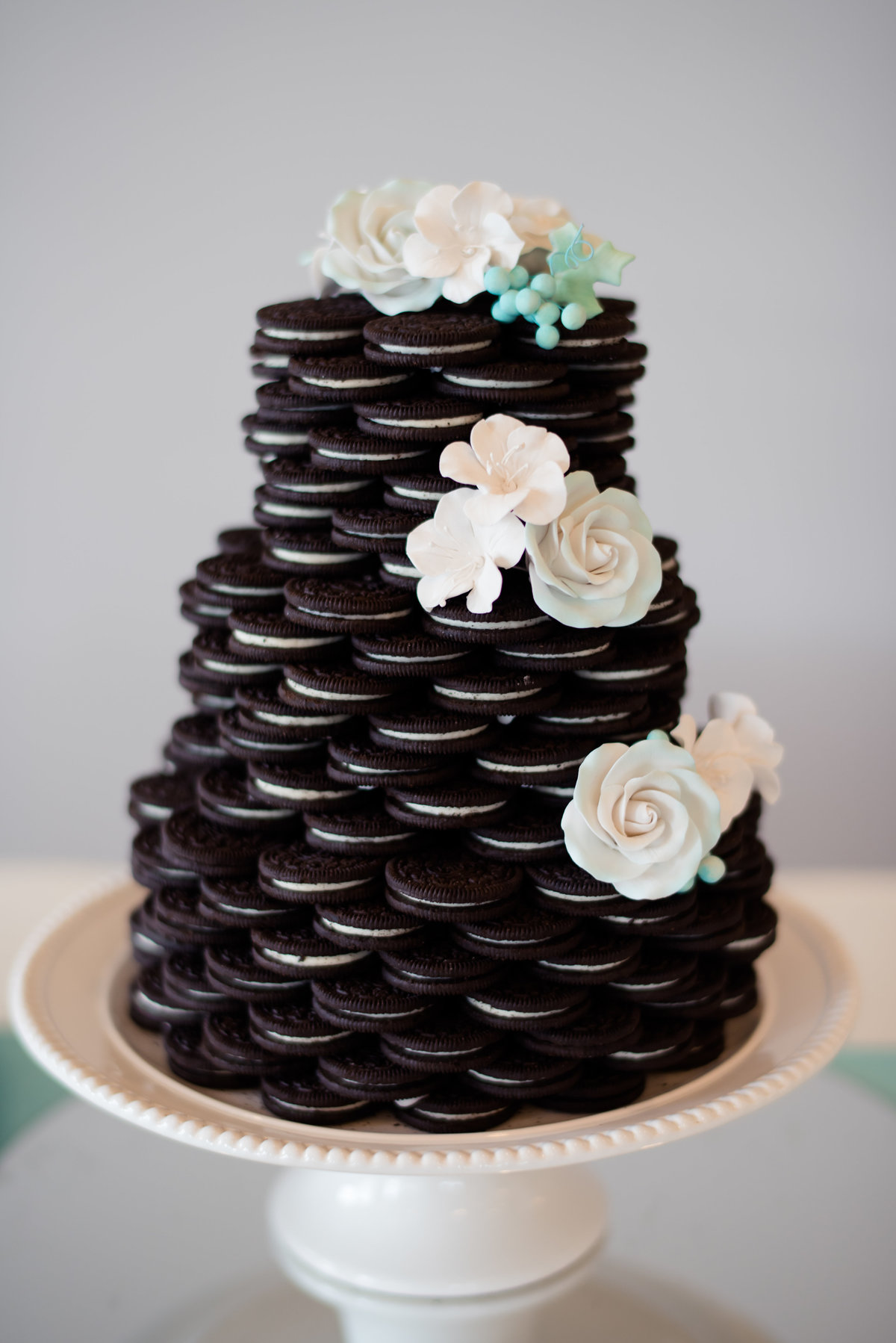 Oreo wedding cake by Brittany Barclay Photography