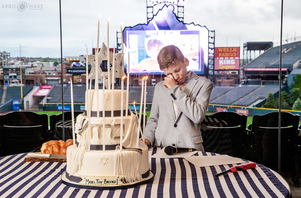 Bar Mitzvah Candle Ceremony at Coors Field Bar Mitzvah Party in Denver Colorado