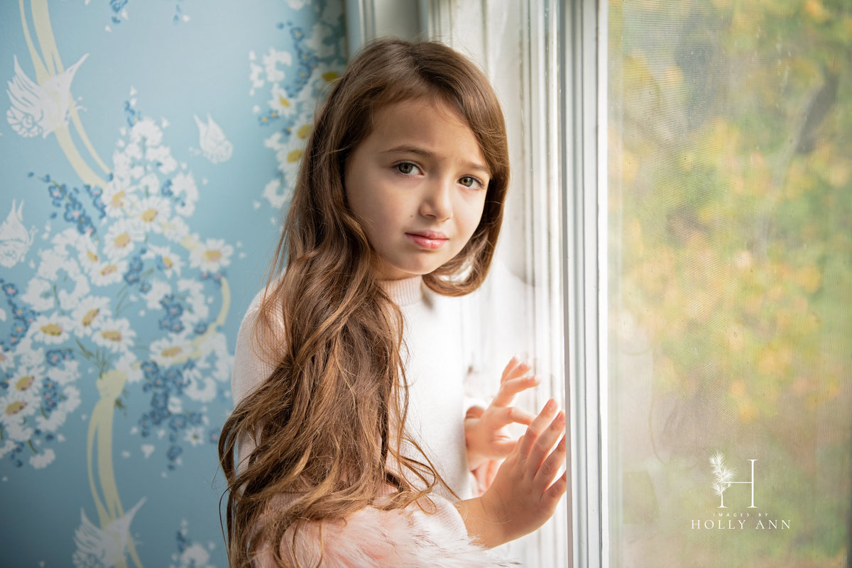 child lifestyle indoor portrait session Middleburgh, NY