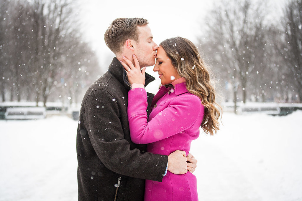 Millennium Park Chicago Illinois Winter Engagement Photographer Taylor Ingles 6