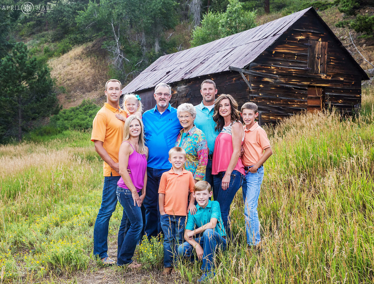 Rustic Family Photography in Boulder Colorado Mountains