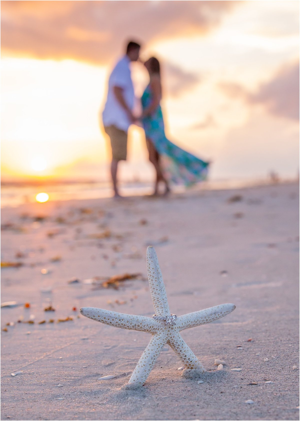 Engagement Photography at Bradenton Beach on Anna Maria Island at Sunset