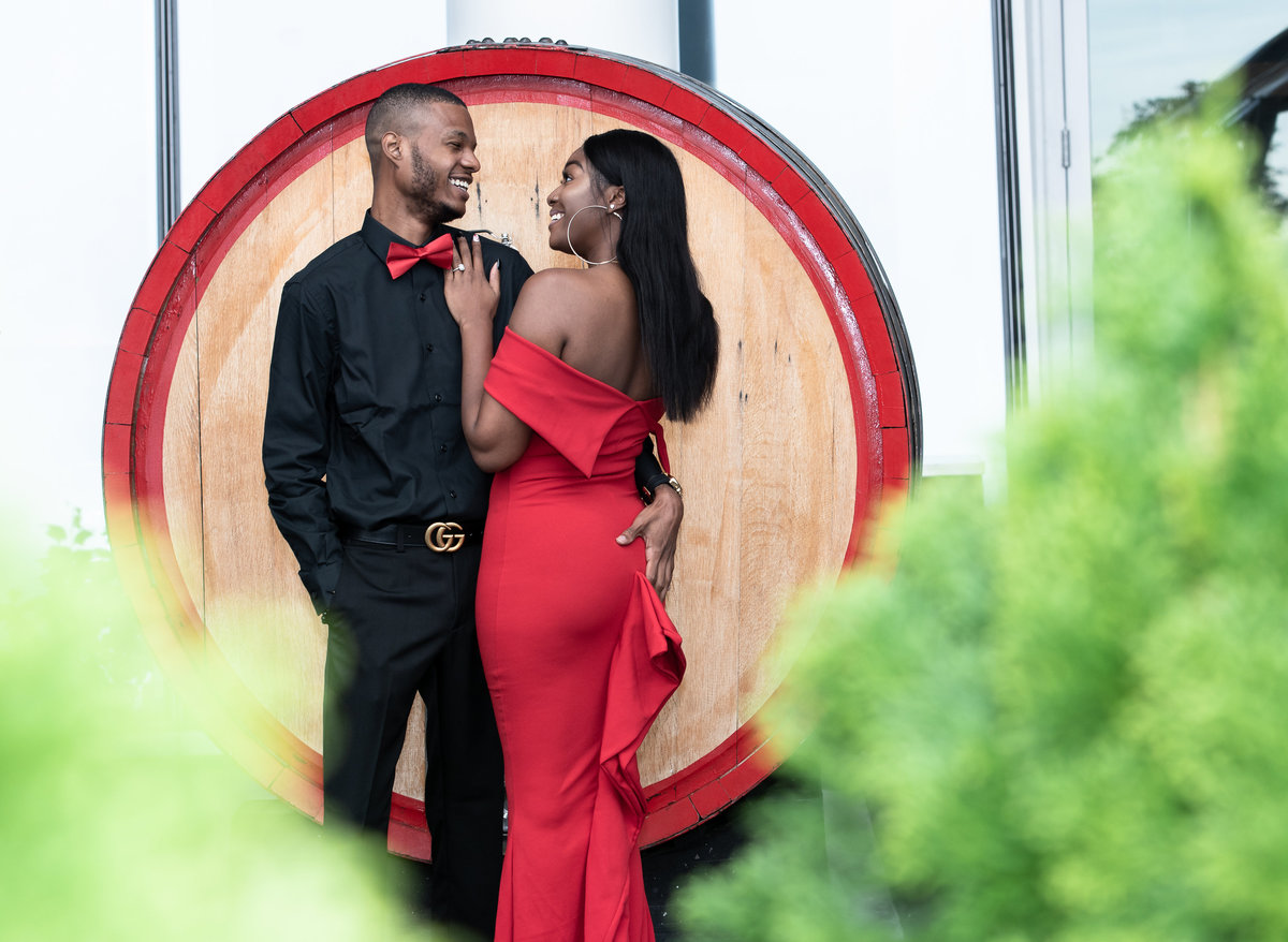 Wine Barrel engagement  National Harbor