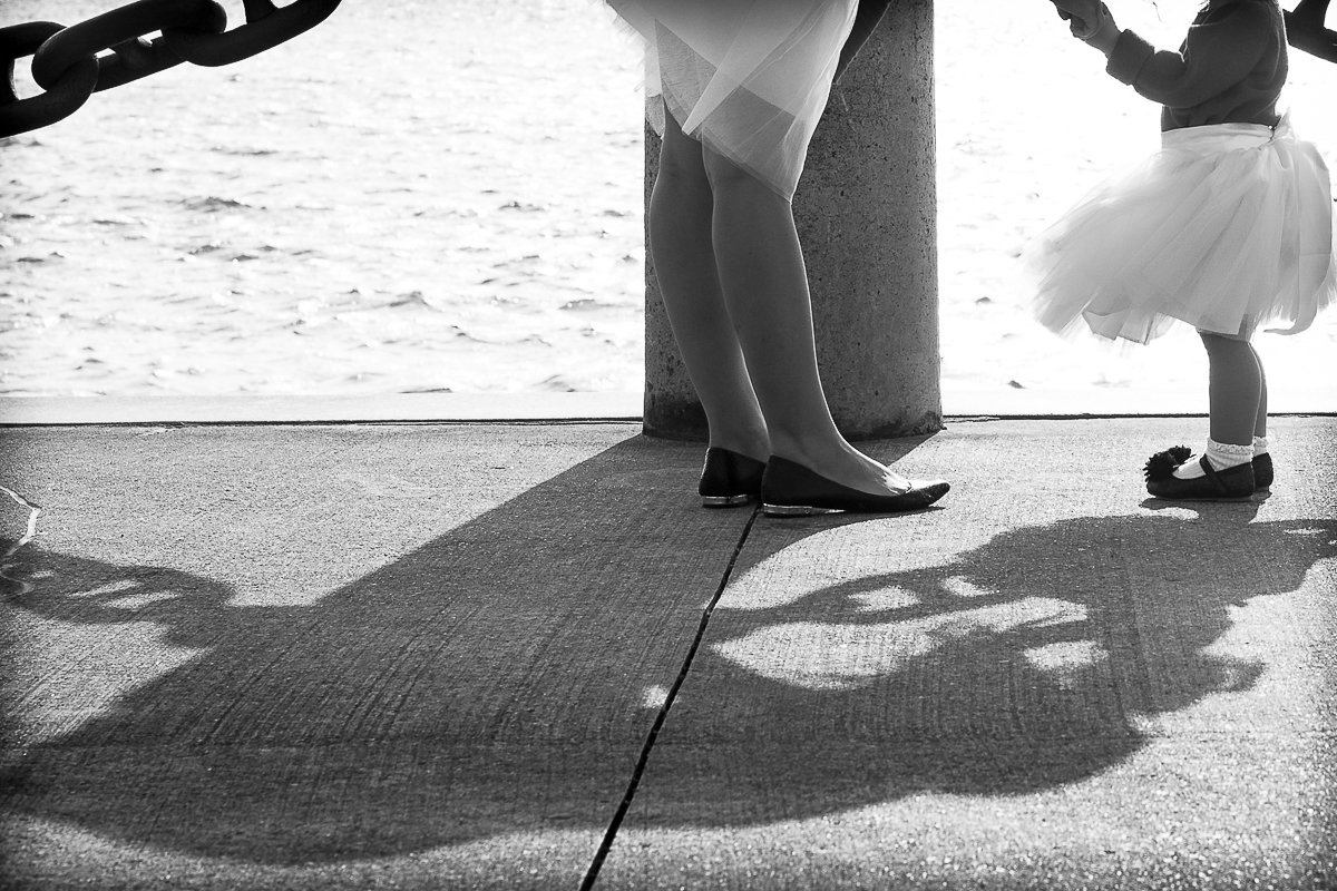 close up of mother and daughter shoes and shadow {Hamilton Family Photographer}