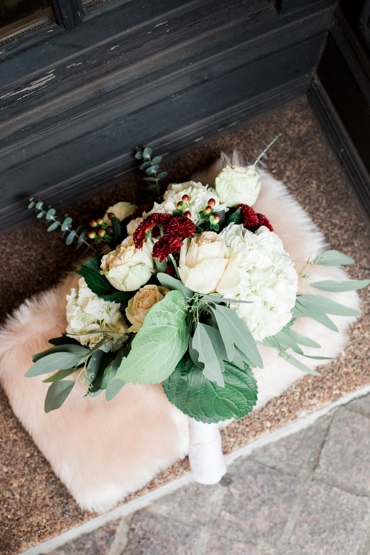 trendy picture of bouquet taken by Atlanta wedding photographer