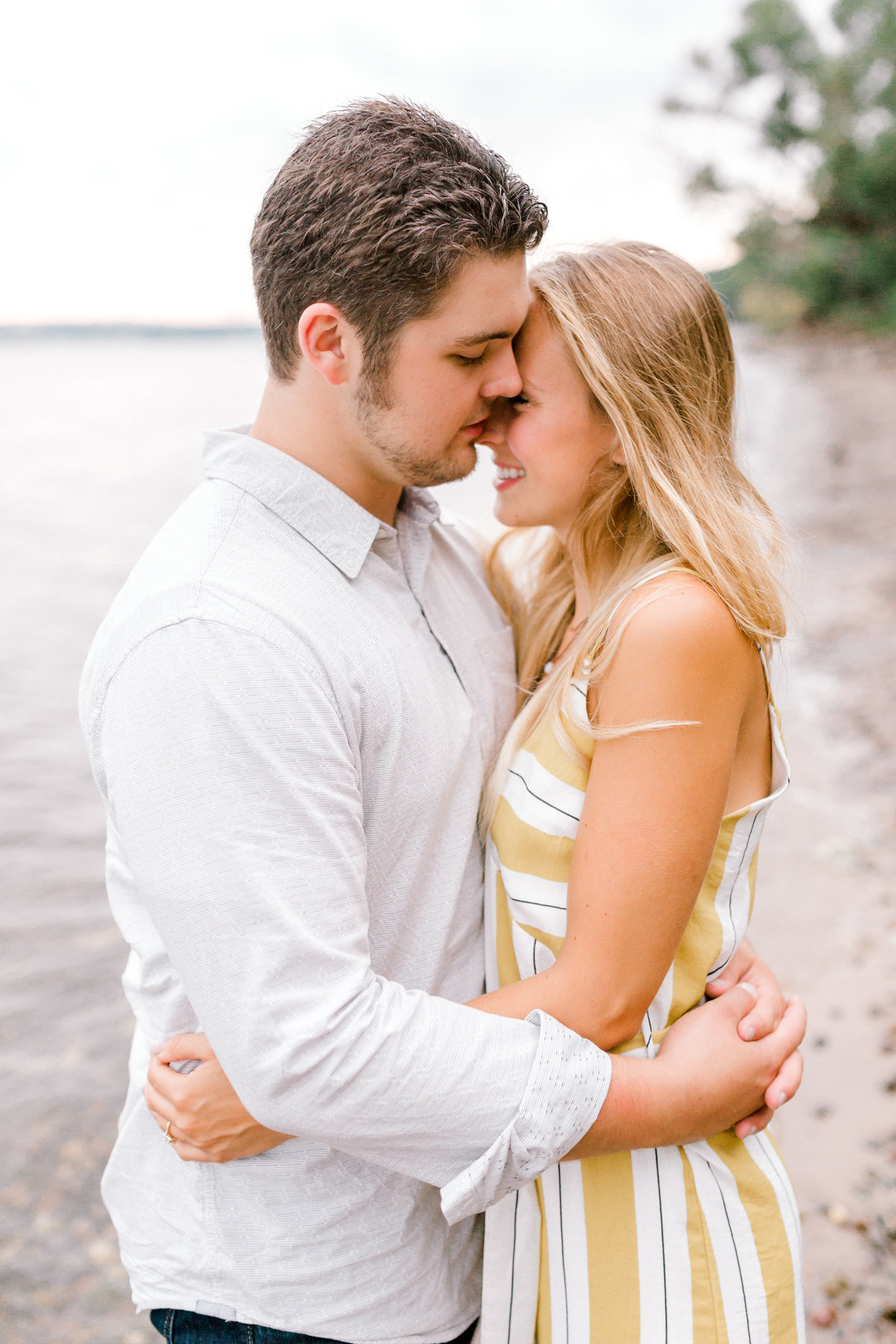 Beach Engagement Photos by Minnesota Wedding Photographer