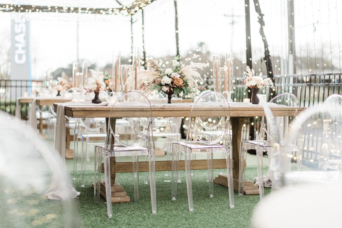 Modern Outdoor Garden Wedding Reception