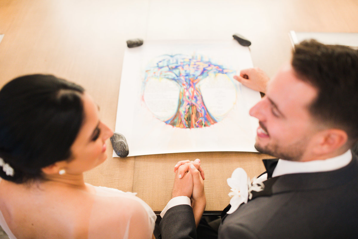 Ketubah Signing- Jewish Wedding Photography