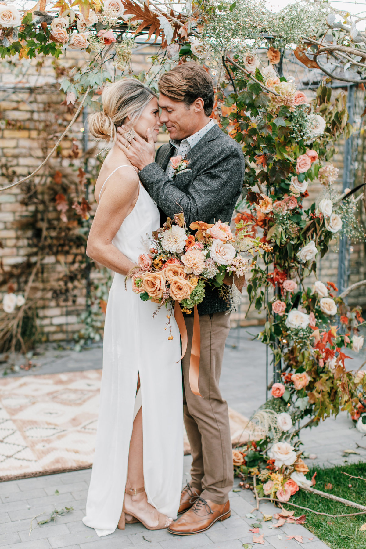Magdalena Studios Bohemian Stylish and Chic Fall Wedding at Terrain Anthropologie_49