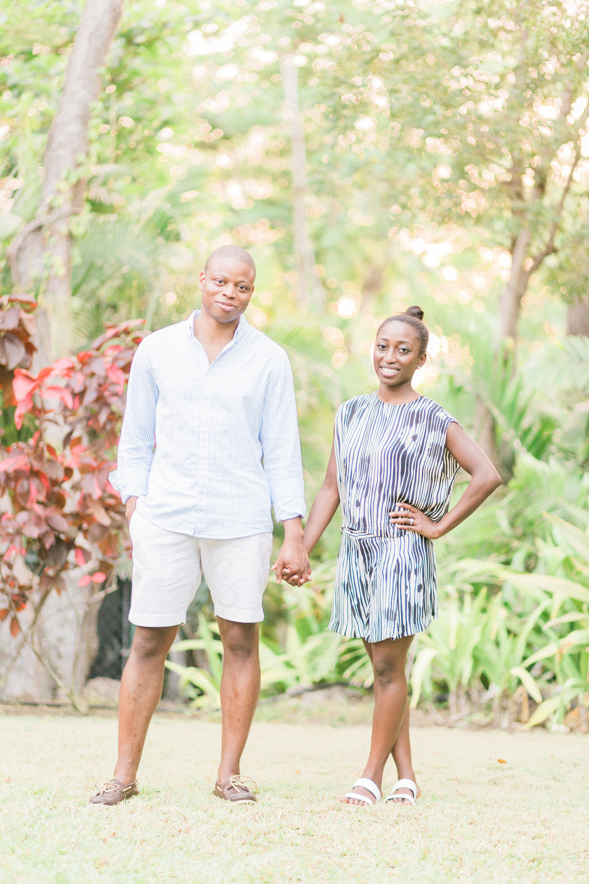 Tropical Island Engagement Session