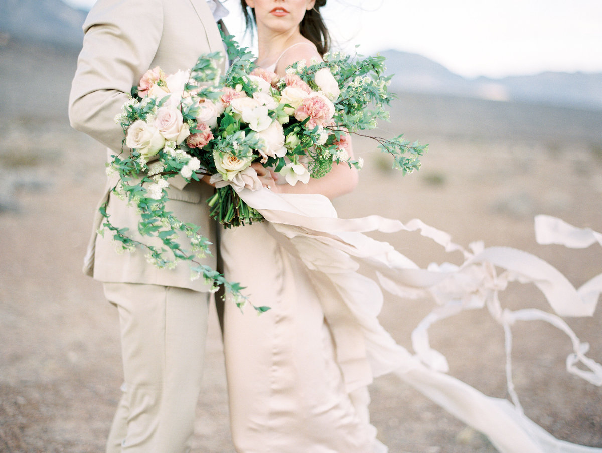 1017 Las Vegas Desert Wedding Couple