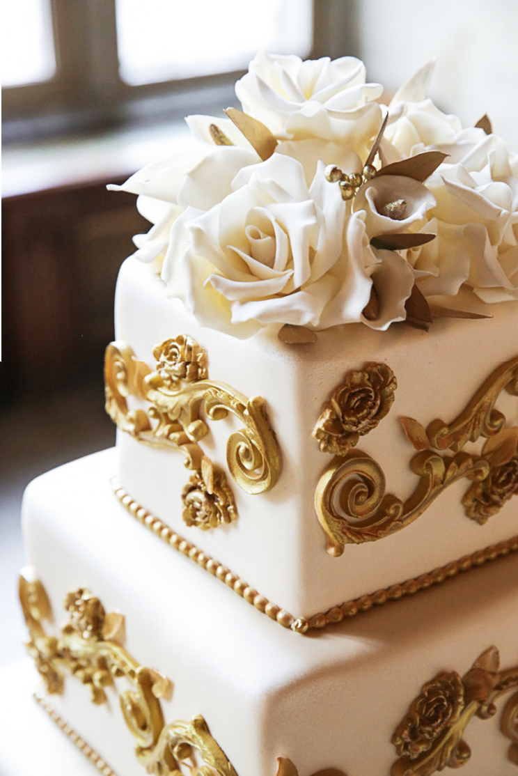 Whippt Desserts Wedding Cake gold