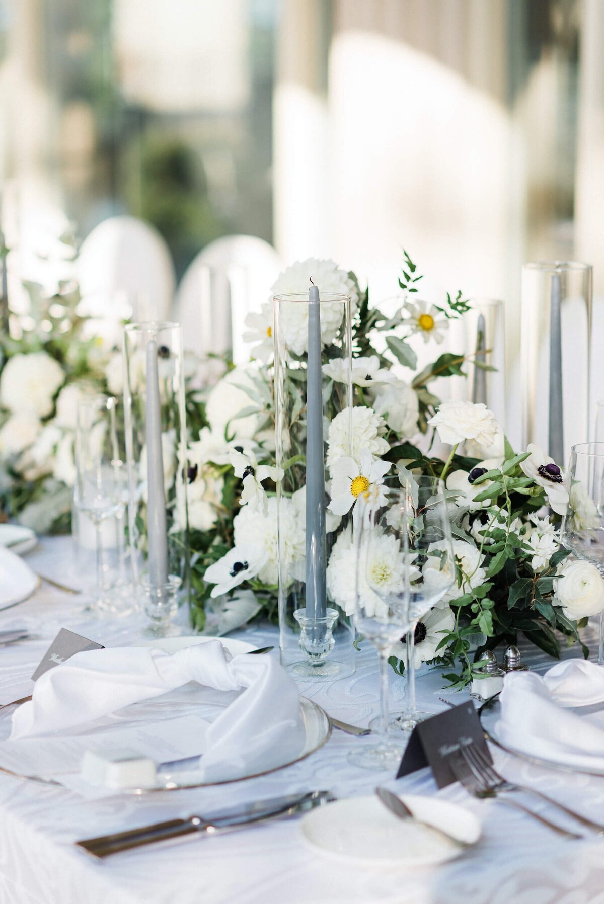 Fresh White & Grey Summer Wedding_11