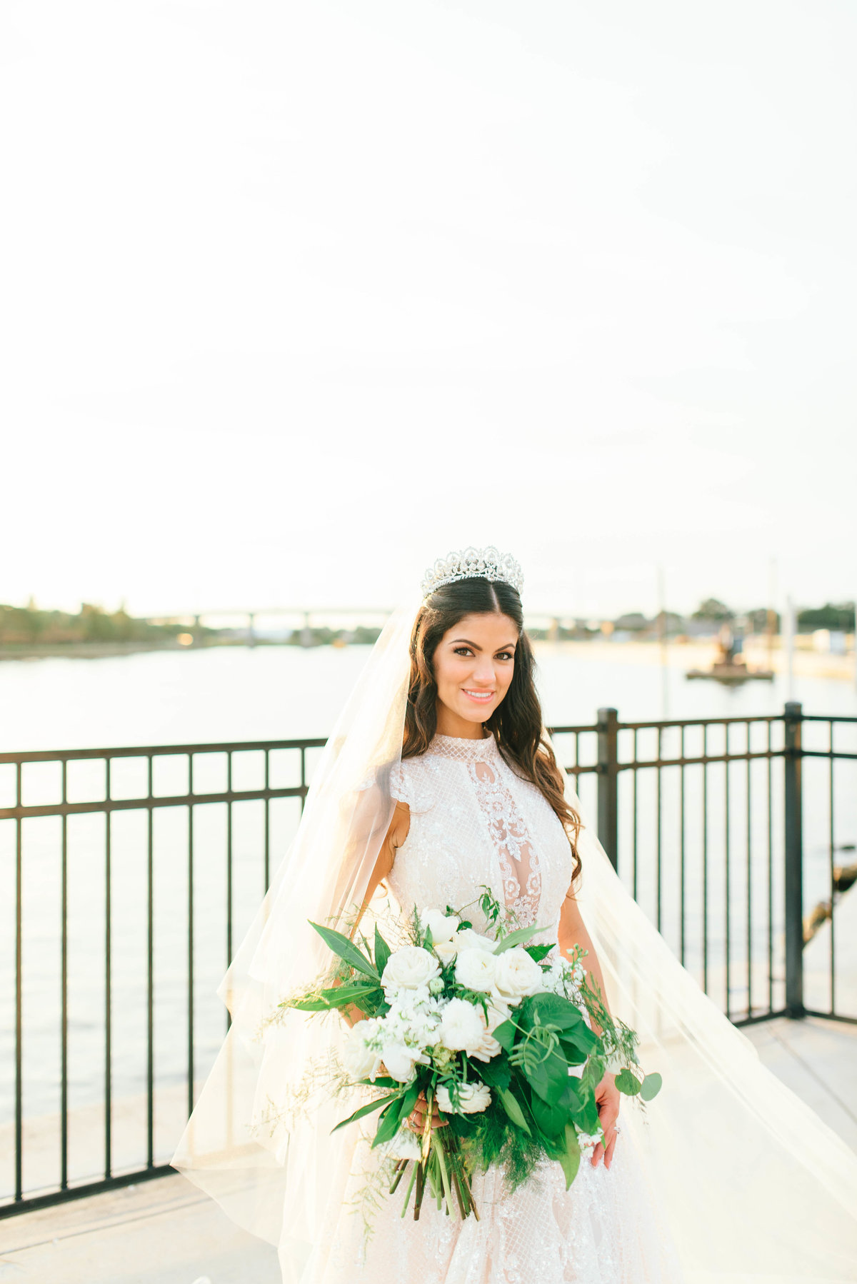 Bride wearing Galia lahav luxury gown