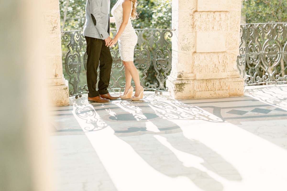 Vizcaya Museum Engagement Photography Session 23
