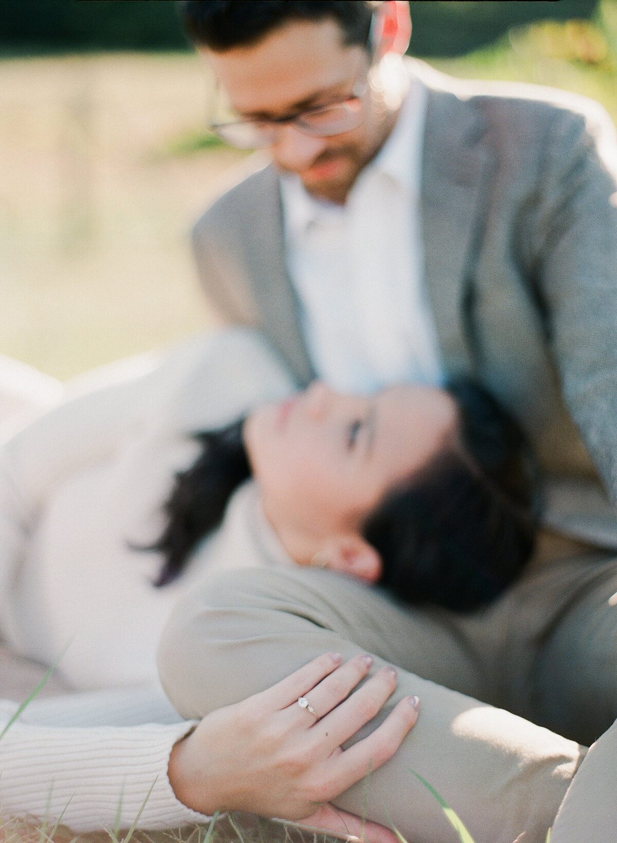 French Vineyard Engagement Photography at The Meadows in Raleigh, NC 19