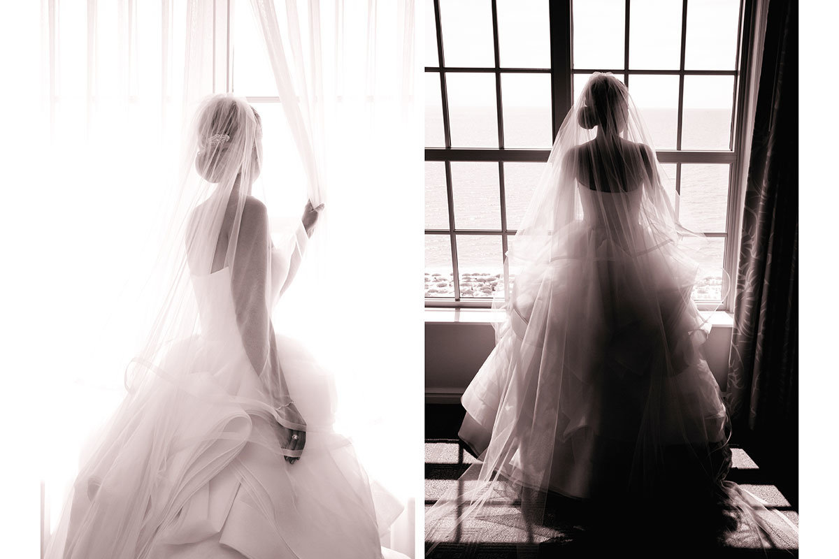 ritz carlton naples florida bride looking out window