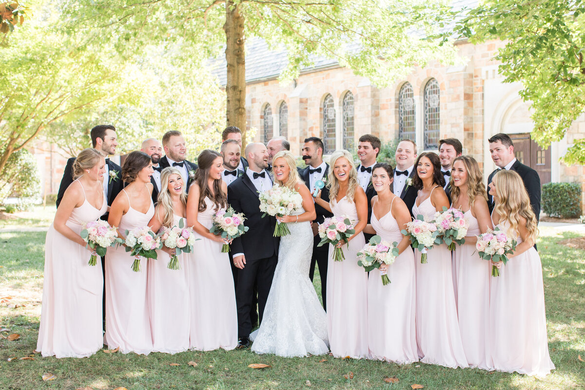 Emily & Michael - Piedmont Club - Full Bridal Party-7