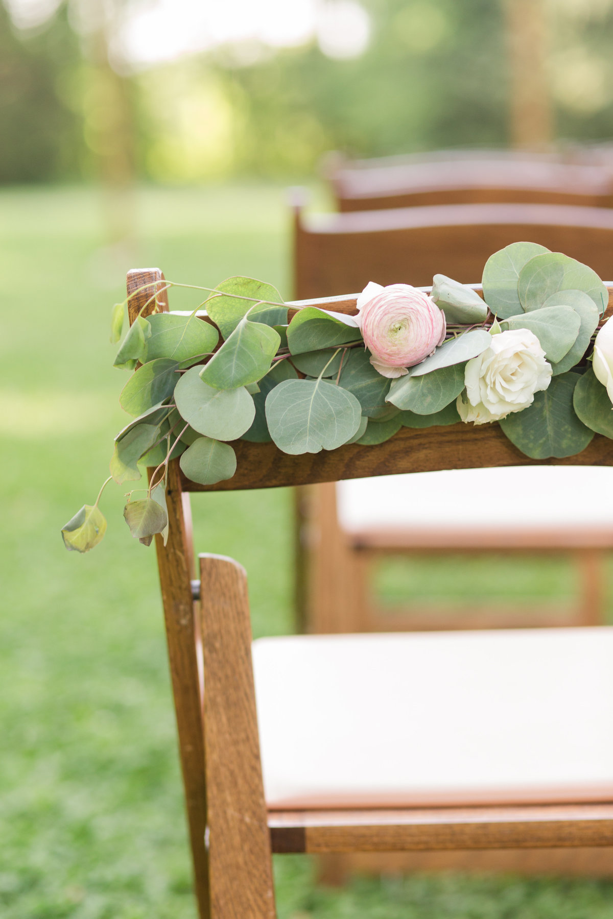 Ceremony detail with garden roses