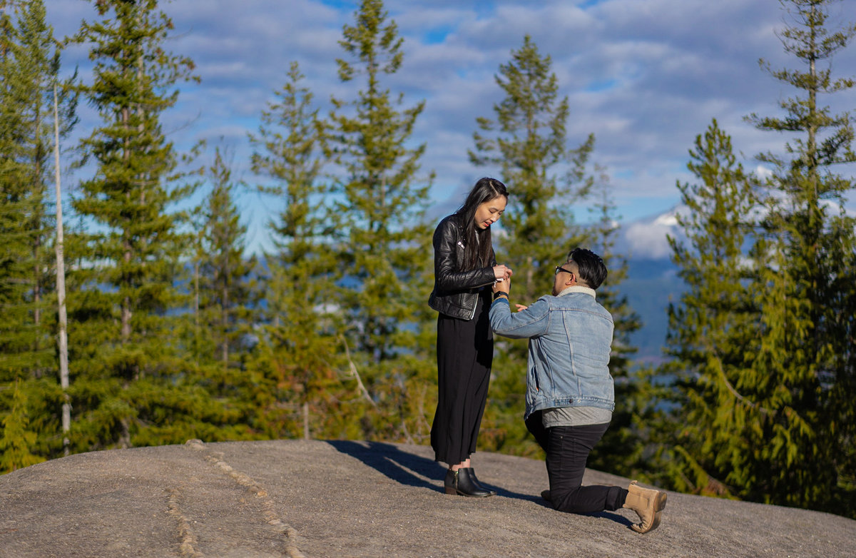Squamish Proposal on the top of Sea to Sky