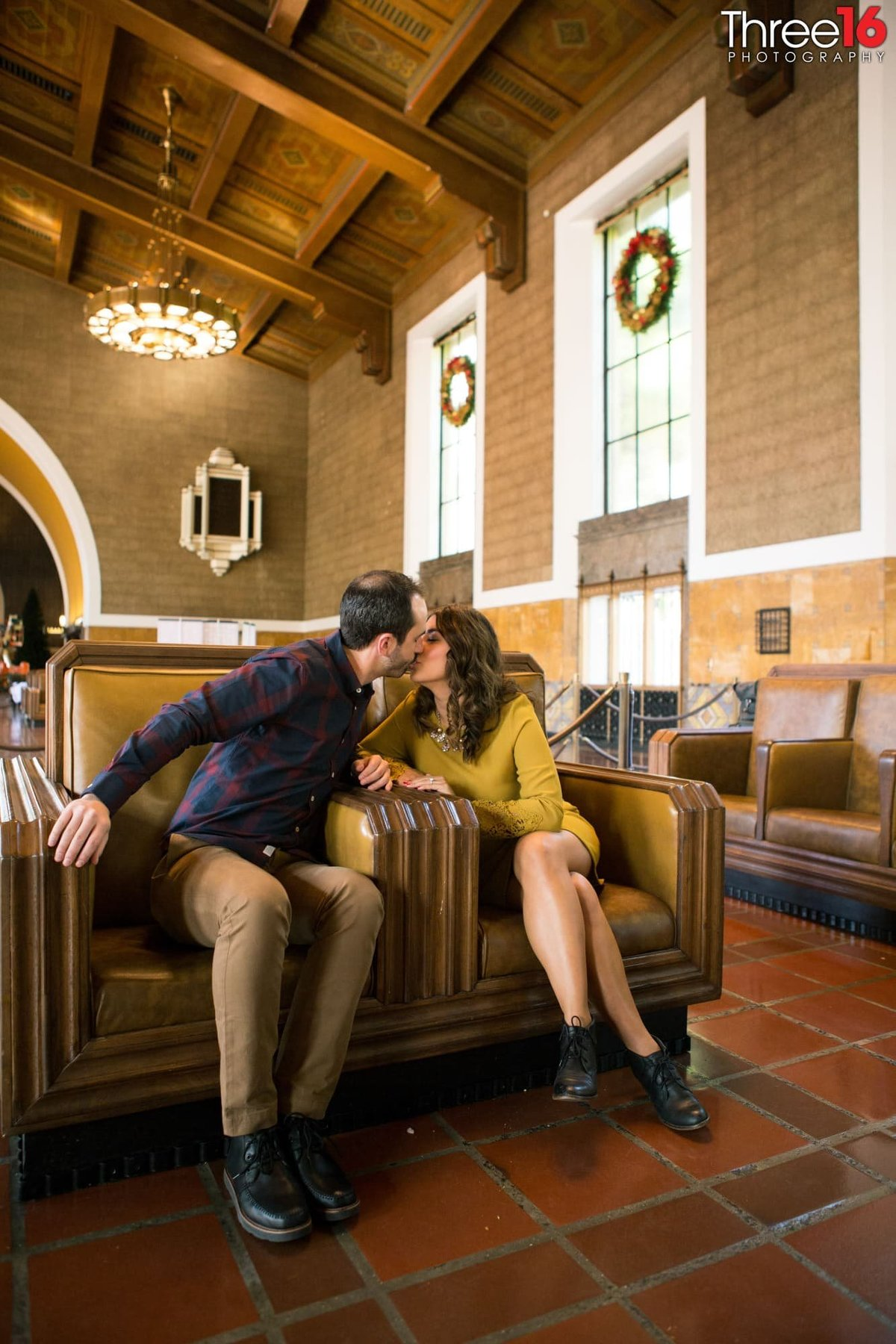Los Angeles Union Station Engagement Photos LA County Wedding Professional Photography Urban Unique