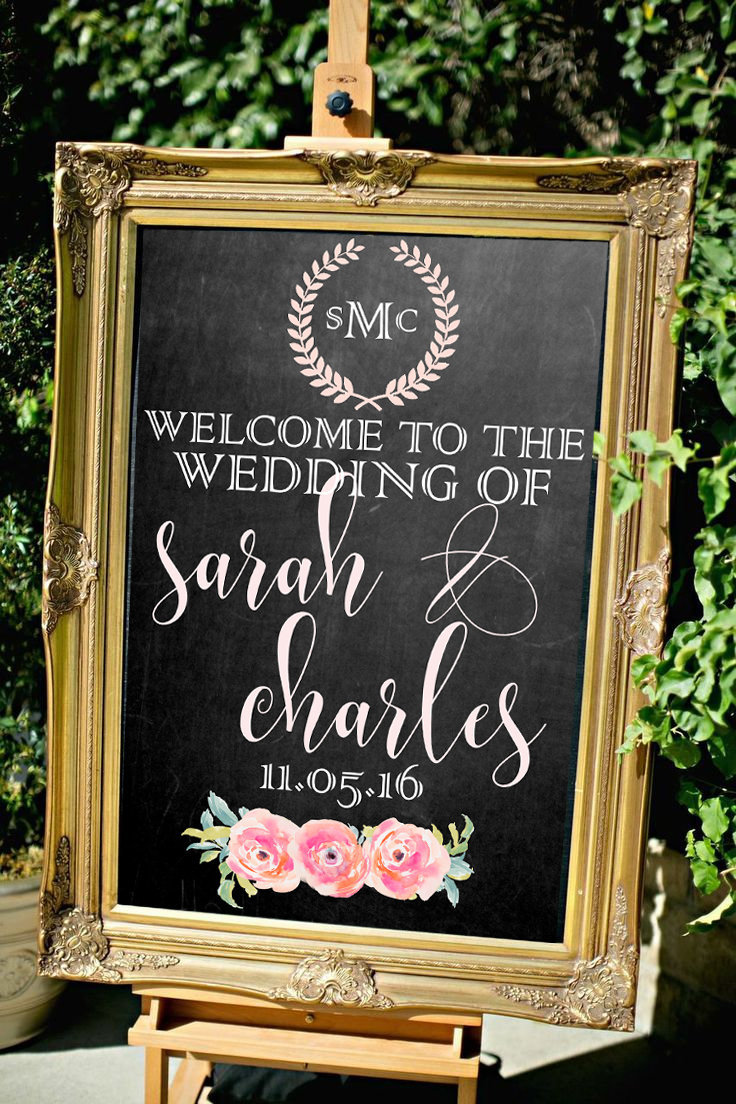 Welcome to the wedding of sign
