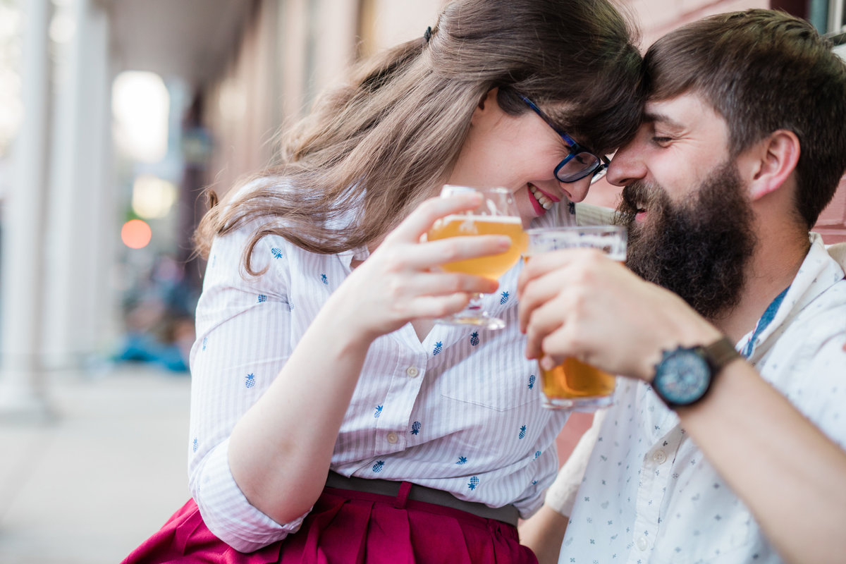 Holy Hound Taproom - York city engagement session