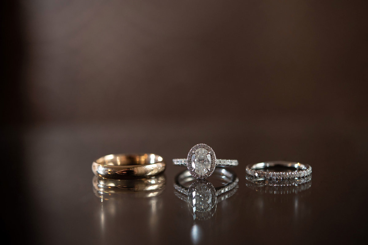 Wedding bands and engagement rings at The Inn at Fox Hollow