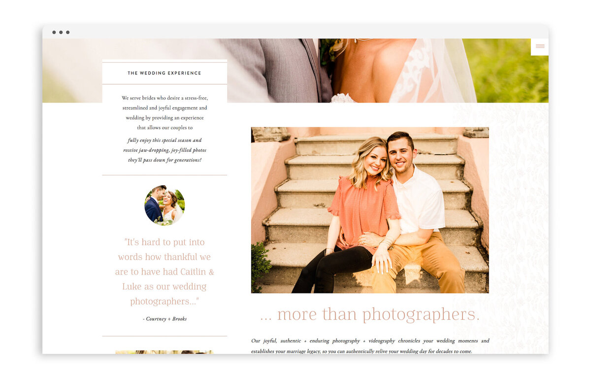 Caitlin and Luke Photography - Custom Brand Logo and Showit Web Website Design by With Grace and Gold - 22