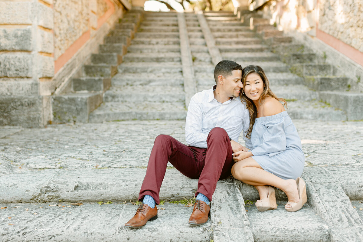 Vizcaya Museum Engagement Photography Session 25