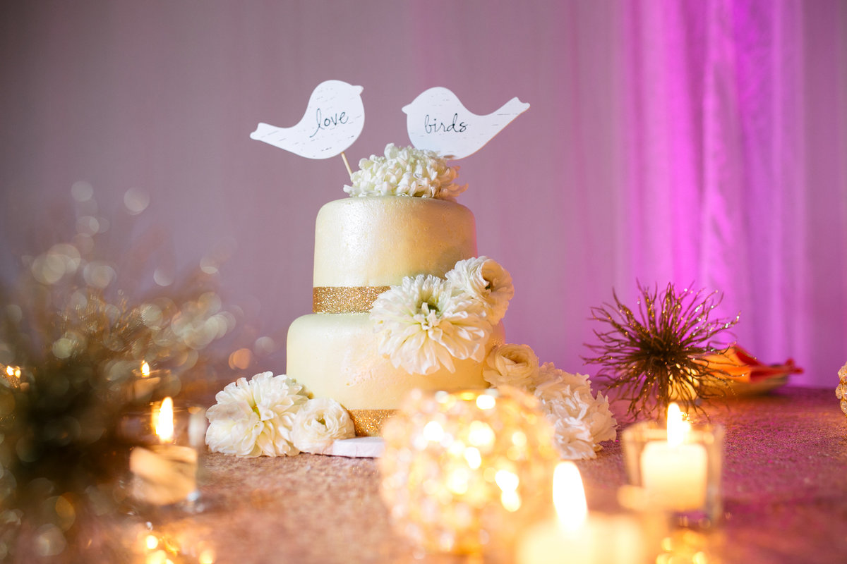 sacrament ivory wedding cake photo
