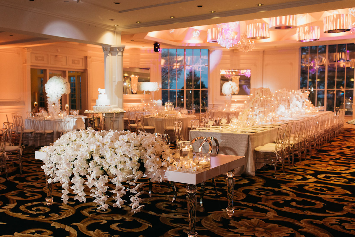 Westmount Country Club white modern New Jersey wedding 24